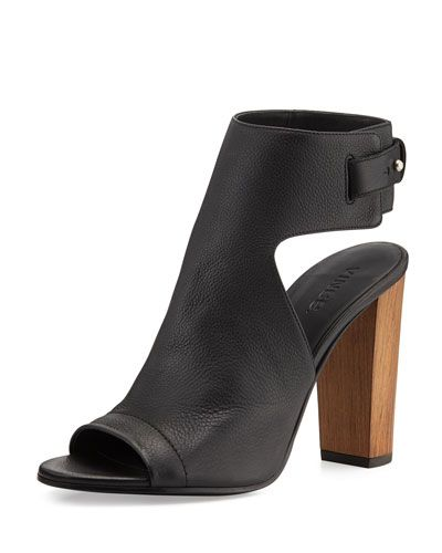 4d043a5fd3fd VINCE Addie Leather Peep-Toe Bootie