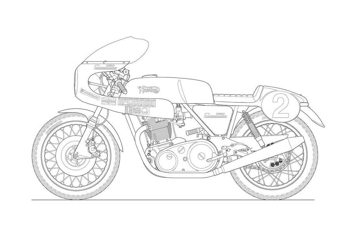 Uncategorized How To Draw Motorcycle motorcycle line drawing 10 blueprints motorcycles pinterest