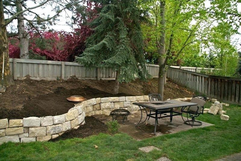 retaining wall ideas for steep slopes backyard slope ...