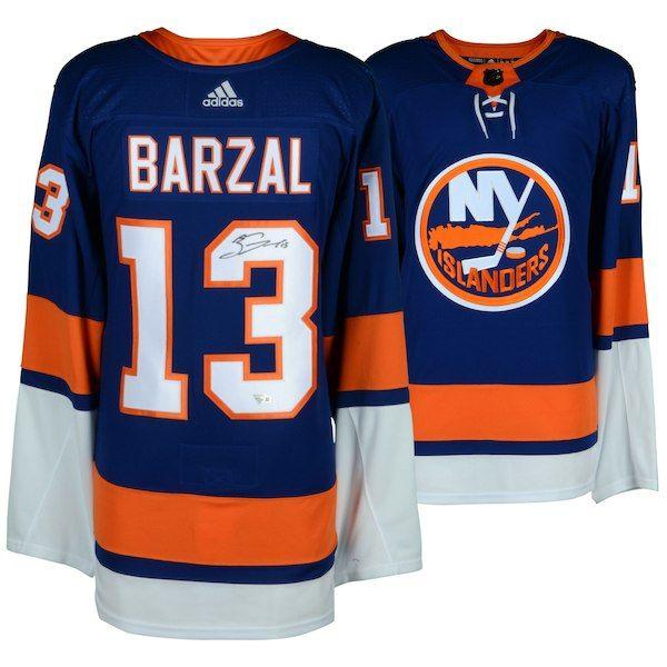 a7c14bd52 Mathew Barzal New York Islanders Fanatics Authentic Autographed Blue Adidas  Authentic Jersey  NewYorkIslanders