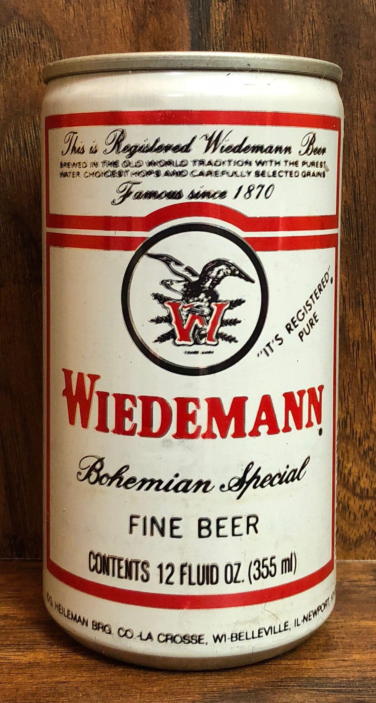 Wiedemann - G. Heileman Brewing Company - La Crosse, Wisconsin   I ...