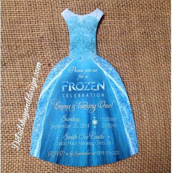Custom listing for janely elsa and anna by detailsbeyonddesign diecut dress invitation featuring elsas dress design from the ever so popular movie frozen what you get 30 die cut stopboris Gallery