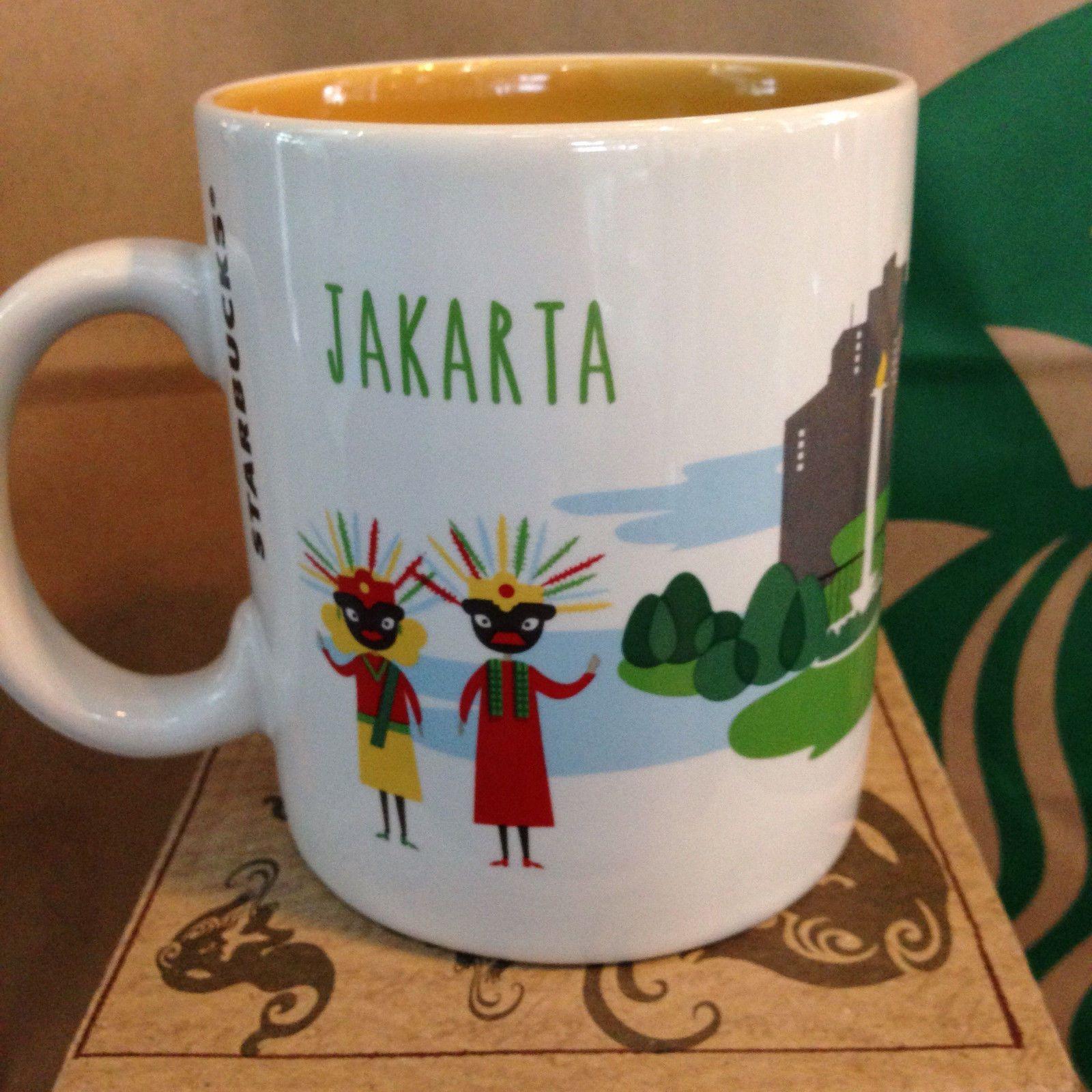 Starbucks Coffee Jakarta Indonesia New City Mug 16oz Ebay Mugs Starbucks Mugs Starbucks Advertising