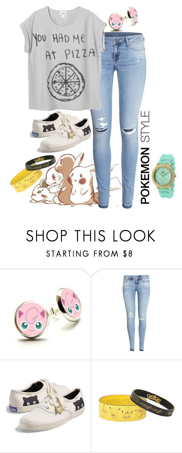 """""""Pokemon"""" by irdina-n ❤ liked on Polyvore featuring Nintendo, H&M, Keds, TKO Orlogi, women's clothing, women, female, woman, misses and juniors"""
