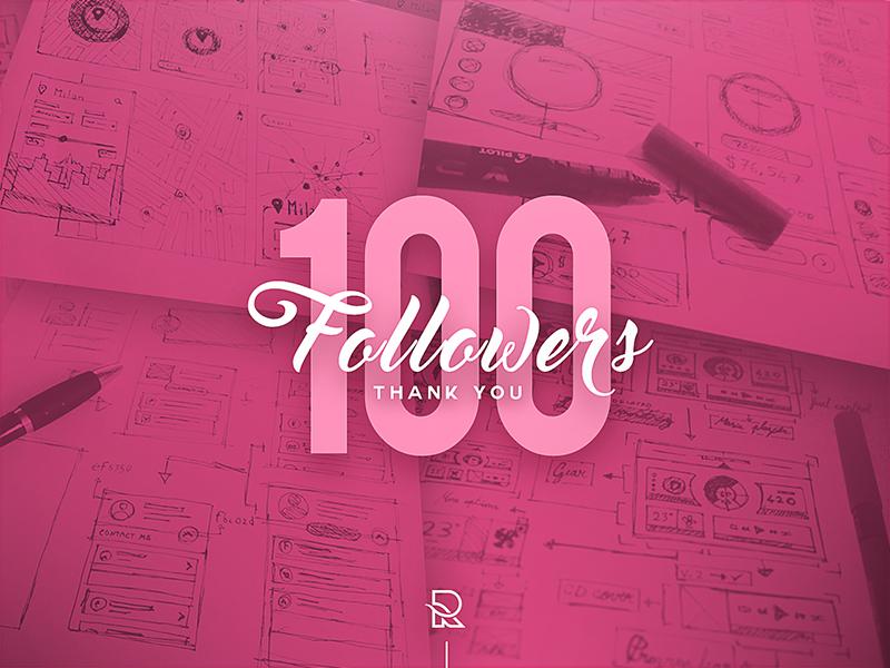Thank You ! - 100 Dribbble Followers