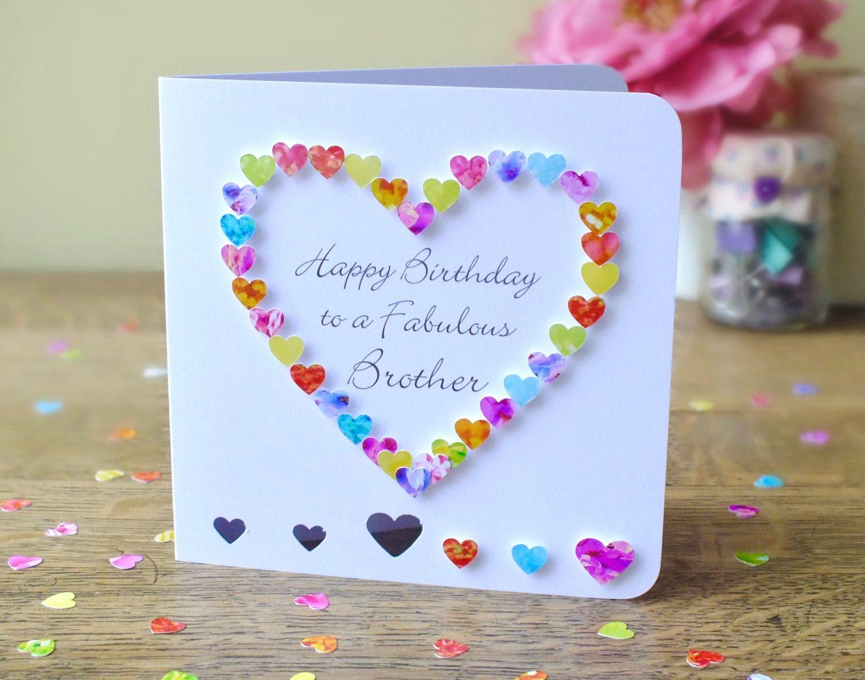 Brother Birthday Card Handmade Personalised Birthday Card for – Customised Birthday Cards