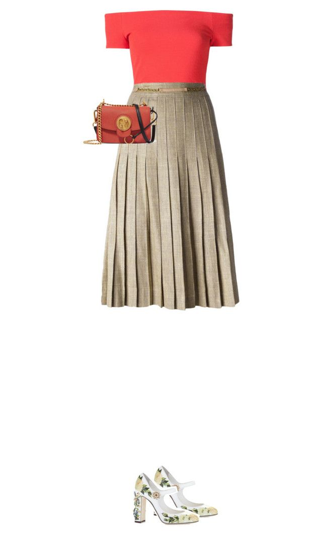 """""""5.439"""" by katrina-yeow ❤ liked on Polyvore featuring Dolce&Gabbana, Alice + Olivia, CÉLINE and Chloé"""