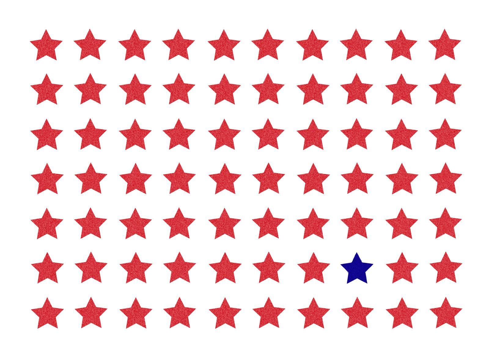 Rot-blau-weißes Kinderzimmer? Wir haben die passenden Sterne dazu ...