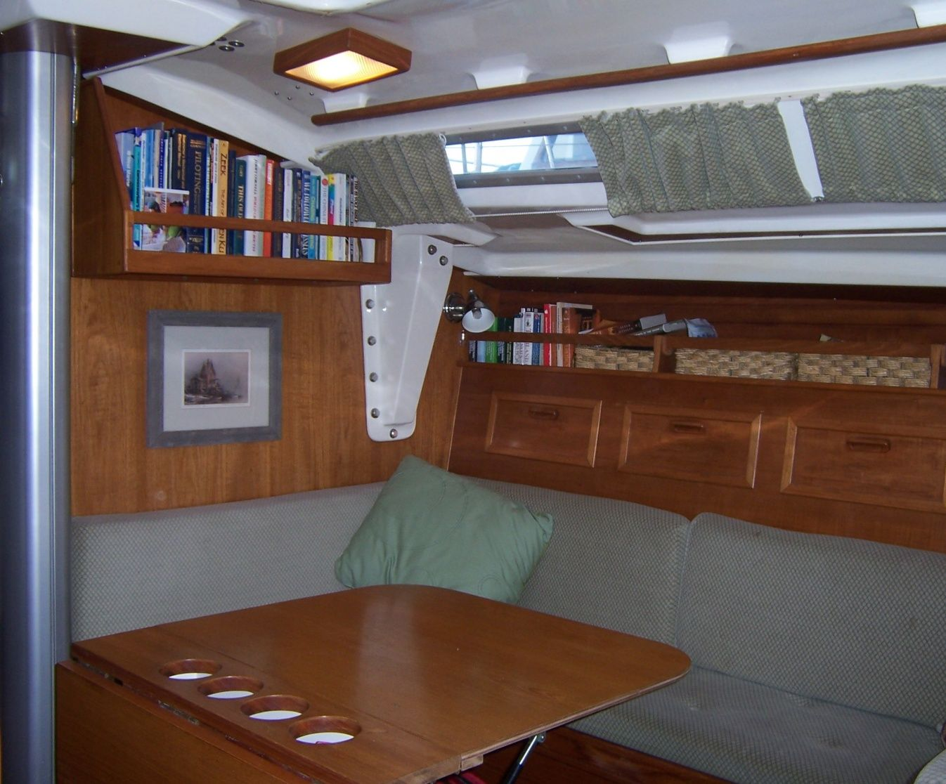 Making Your Own Curtains Using Shock Cords Http://www.sailboat Interiors