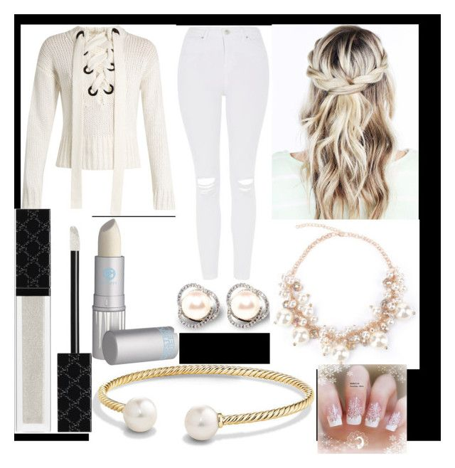 """""""White out"""" by lovegymnastics66 ❤ liked on Polyvore featuring Joseph, Topshop, David Yurman, Gucci and Lipstick Queen"""