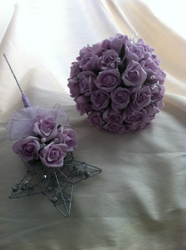 hand tied and flower girl wand