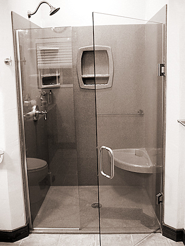 The Onyx Collection - Fully Frameless Shower Door | Home Finishes ...