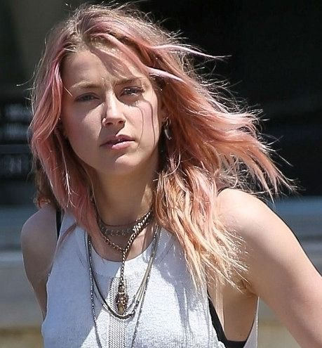 Kim Kardashian Swears Her Pink Hair Is Real Plus More Stars Who Have Embraced The Color Trend Long Pink Hair Amber Heard Hair Hair