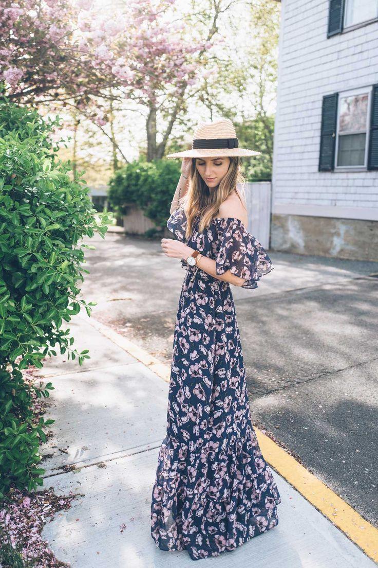 8 Off The Shoulder Floral Maxi Dresses For Every Budget Jess Ann Kirby Maxi Dress Floral Maxi Dress Summer Dresses [ 1104 x 736 Pixel ]