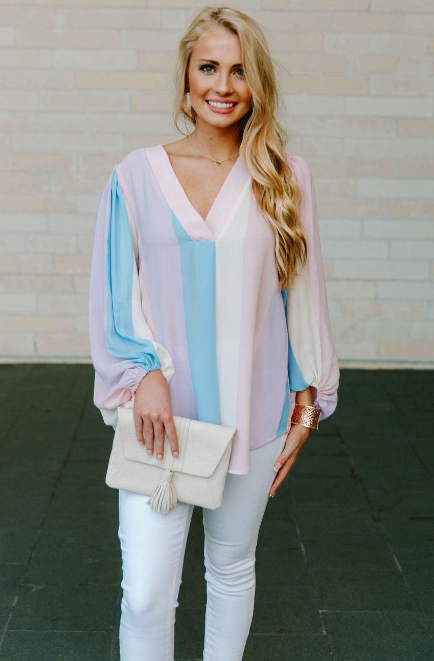 79e588cc5 Candy Stripe PJ Shirt | Style | Tabitha webb, Candy stripes, Shirts