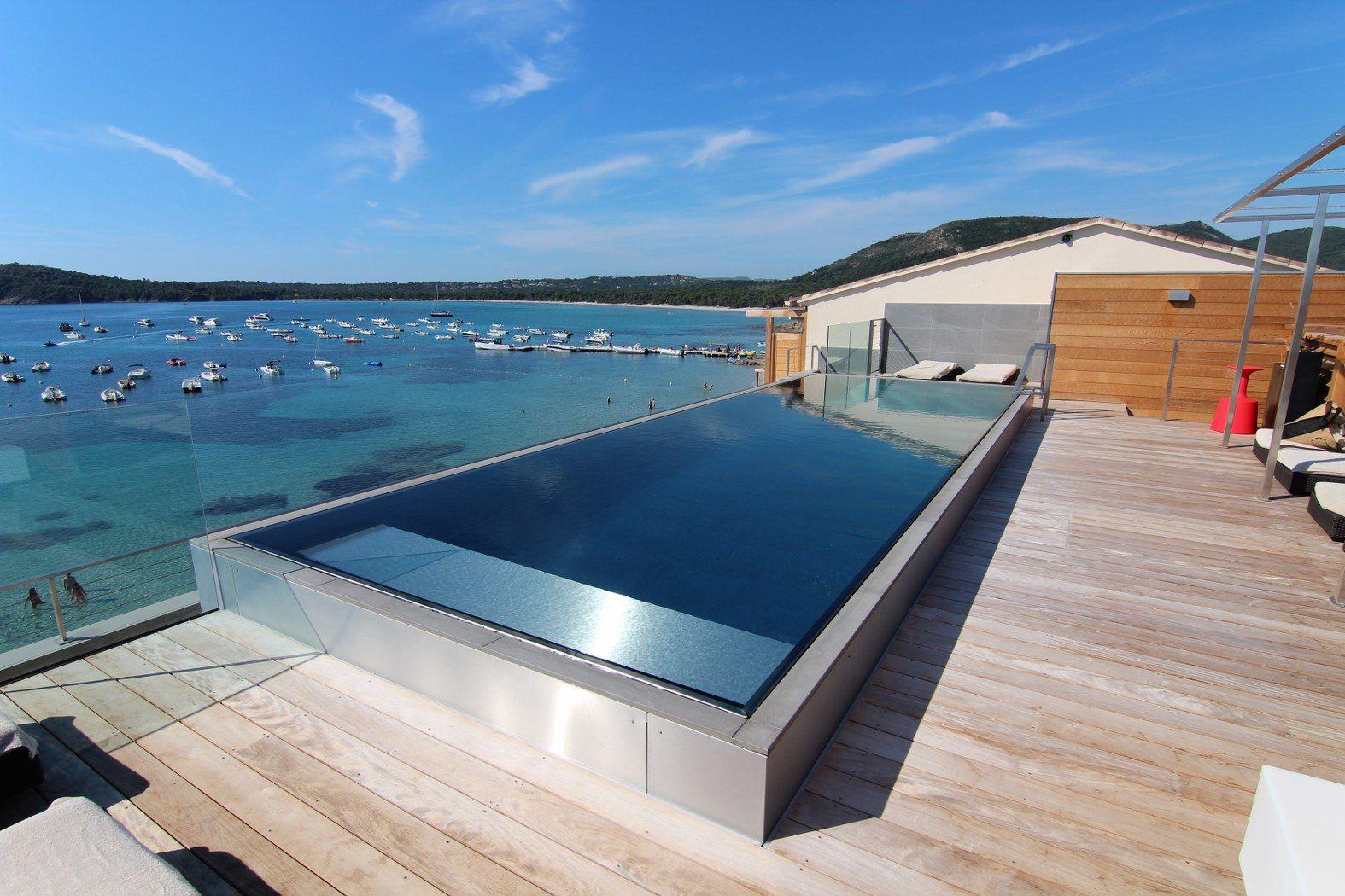 Piscine En Inox Steel And Style stainless steel pool | architektur, haus umbau, Überlaufpool
