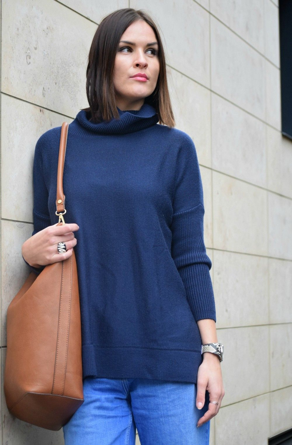 Off Duty Boden roll neck navy jumper… « UK Fashion Blogger – Secret little Stars