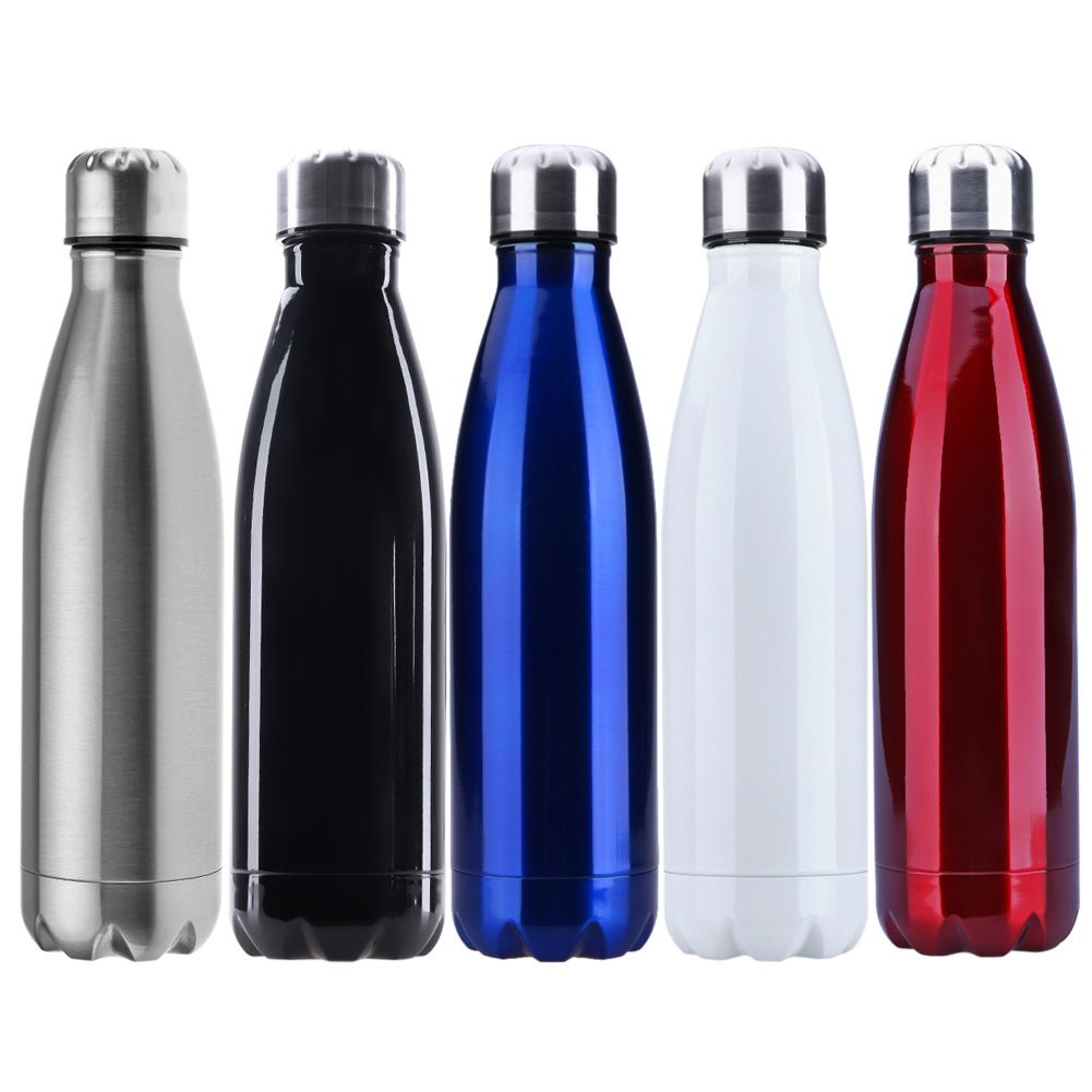 500ml Insulated Stainless Steel Water Bottle Thermal Flask Drinks Sports Bottle