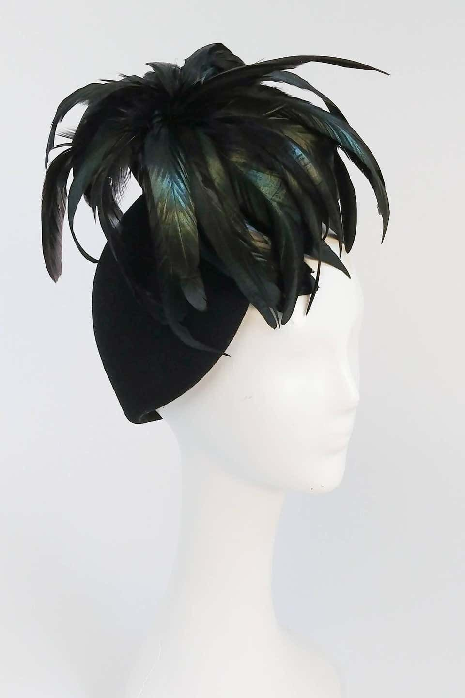 1980s Mr John Rooster Feather Hat In 2021 Feather Hat Elegant Hats Women Hats Fashion