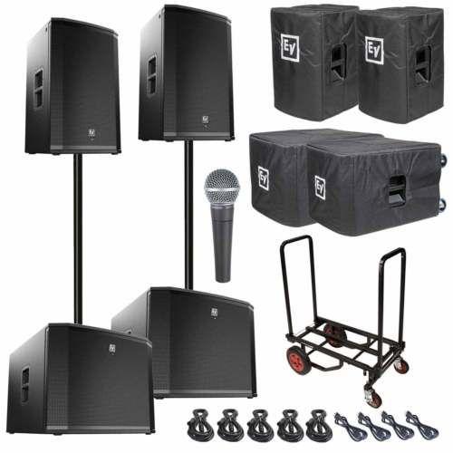 Two Electro-Voice ETX-15P Powered/Active Speaker + ETX-18SP