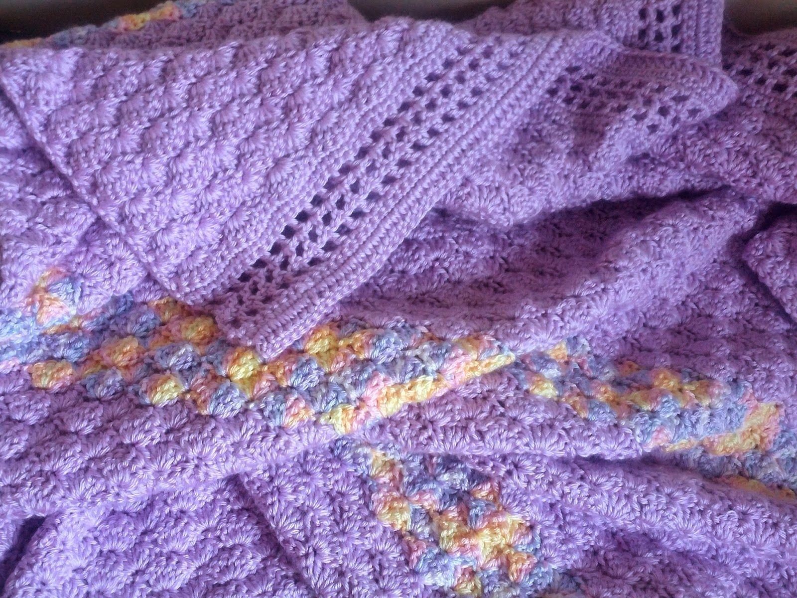 crochet shell stitch blanket pattern | manta ganchillo | Pinterest ...
