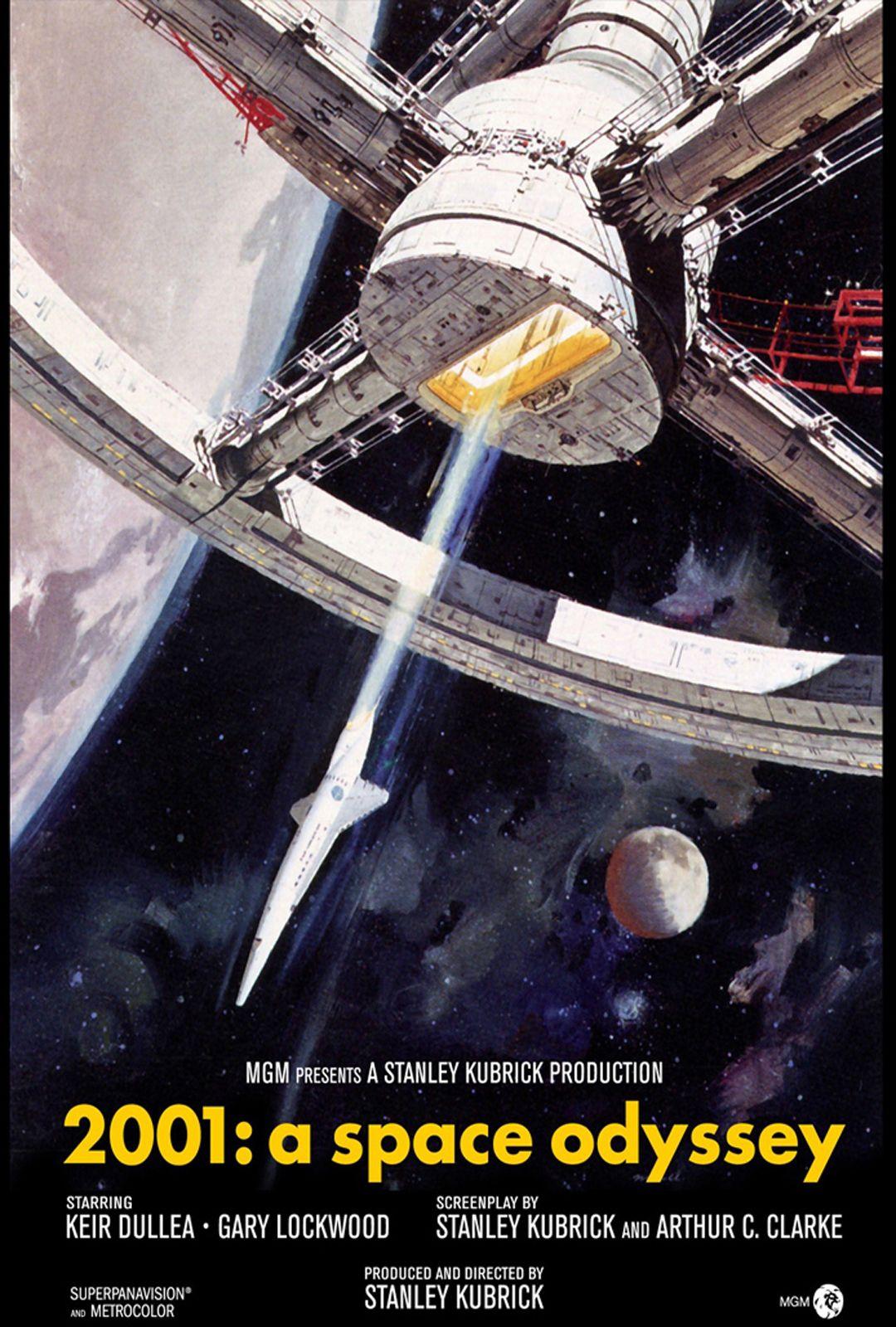 Keir Dullea Gary Lockwood William Sylvester Dir Stanley Kubrick Imdb 8 3 Htt 2001 A Space Odyssey Space Odyssey Stanley Kubrick