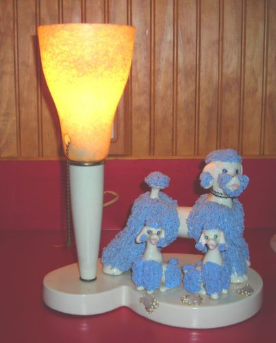 Vintage 50s Spaghetti Poodle Lamp Mom Pups Working Poodle Vintage Kitsch Vintage Poodle