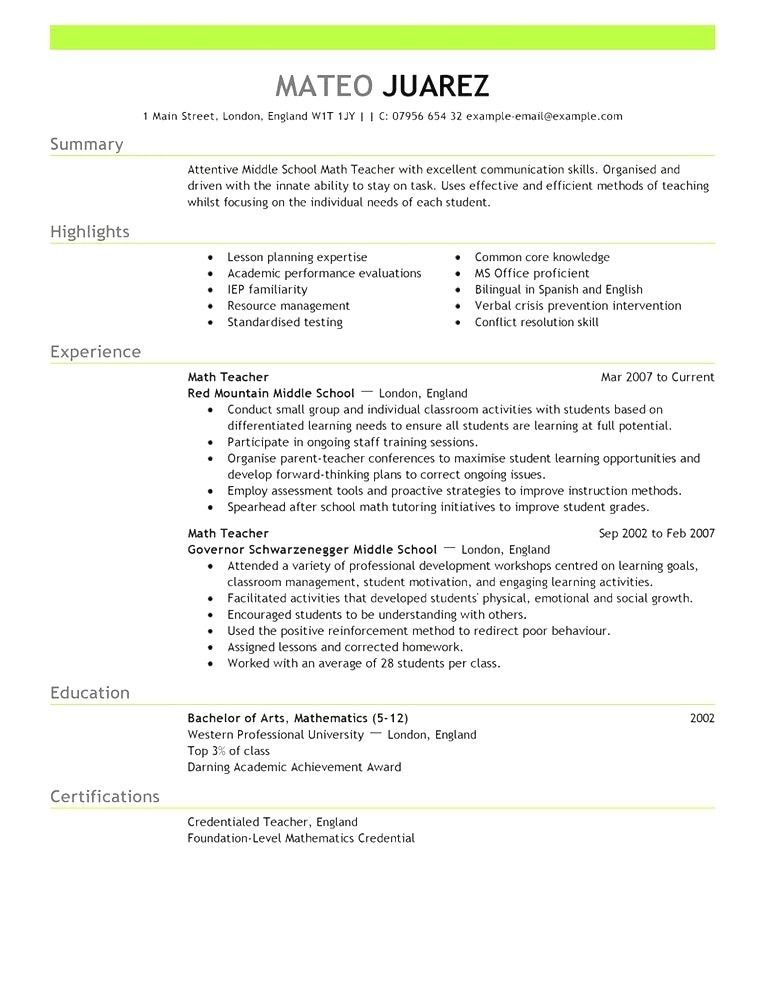 free teacher resume templates australia