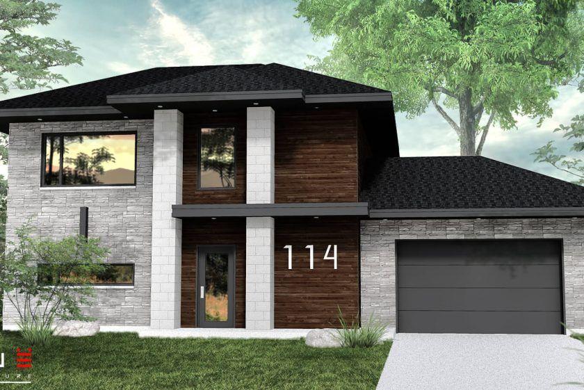 Plans de maisons à étages modernes Leguë Architecture Maisons - plan d une maison simple