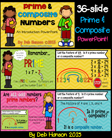 prime and composite numbers powerpoint multiples and factors