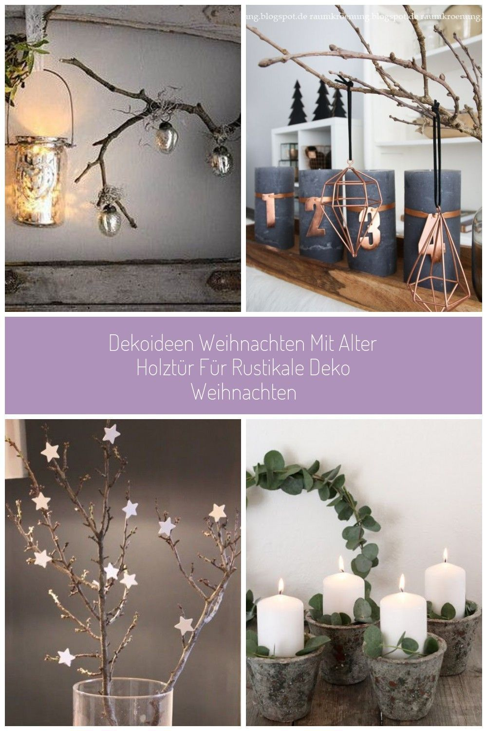 Christmas decorations with an old wooden door for rustic Christmas …