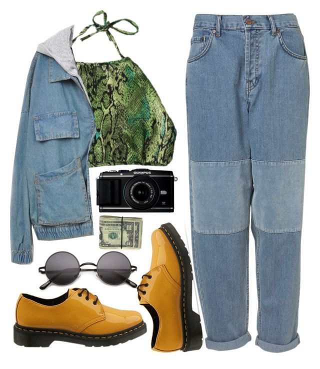 """90´s baby"" by my-artsy-soul ❤ liked on Polyvore featuring Dr. Martens"