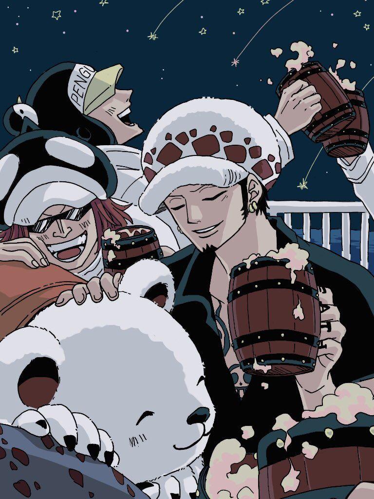 Monde De Pirates One Piece : monde, pirates, piece, Heart, Pirates, Trafalgar, Water, Shachi, Penguin, Piece, Manga, Anime, Piece,, Anime,