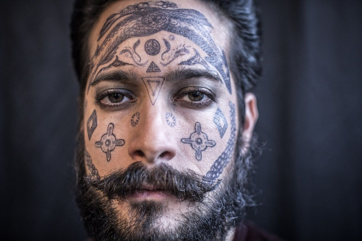 Tattooed guy on casting