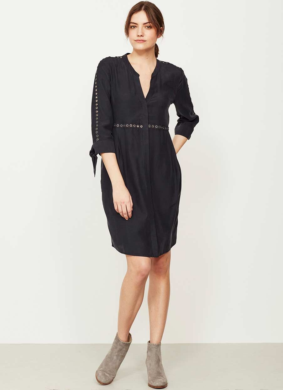 0d61221ed372 INK EYELET TRIM SHIRT DRESS