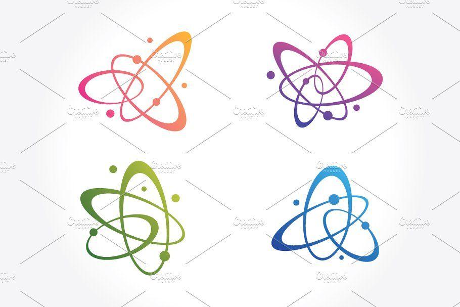 Molecules  atoms symbols Set