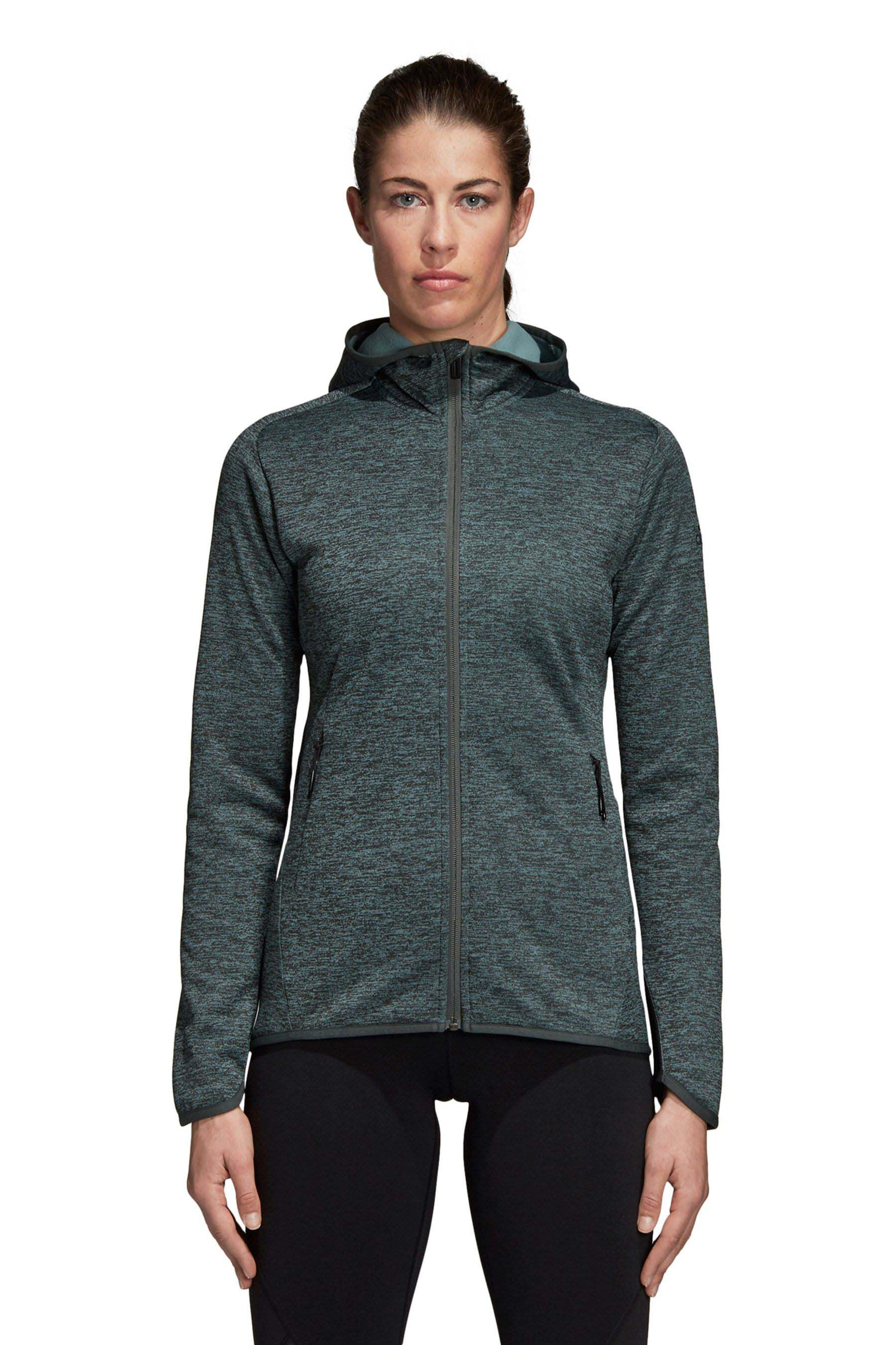 Womens adidas Green Climawarm Hoody Green | Products