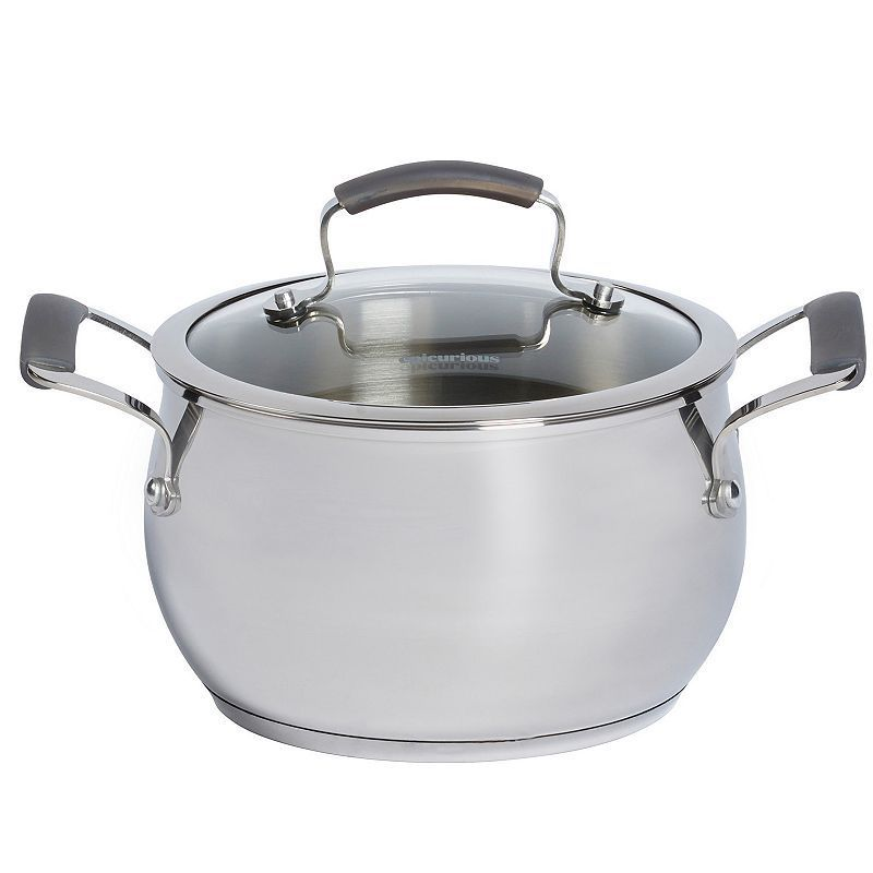 Epicurious 4qt. Stainless Steel Soup Pot, Multicolor