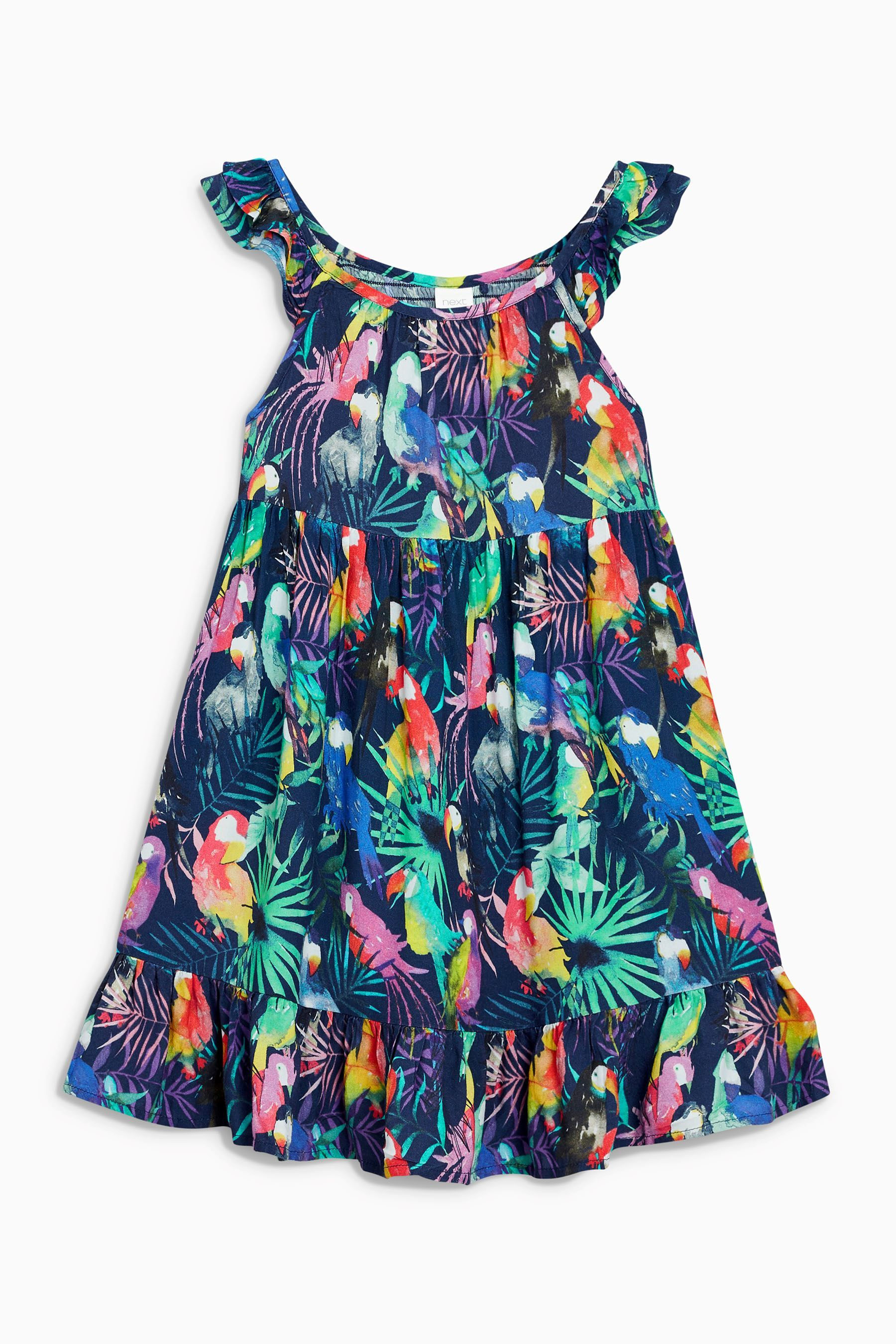Buy Navy Toucan Frill Sun Dress (3-16yrs) from the Next UK online shop