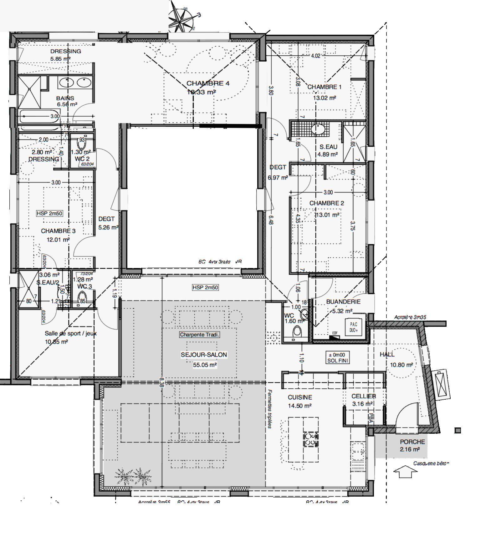 Plan Maison Plain Pied 200m2 Charmant Plan De Maison Plain Pied 200m2 Plan Maison Plain Pied Plan Maison Maison Plain Pied Contemporaine