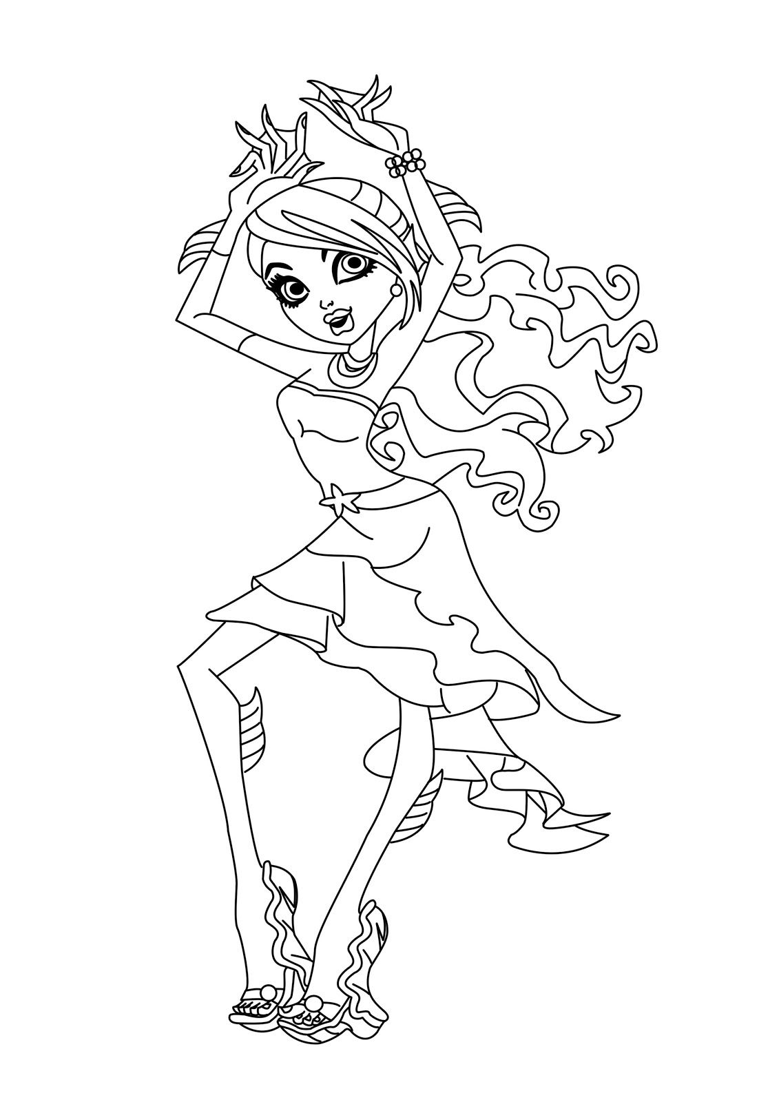 free printable monster high coloring pages for kids coloring