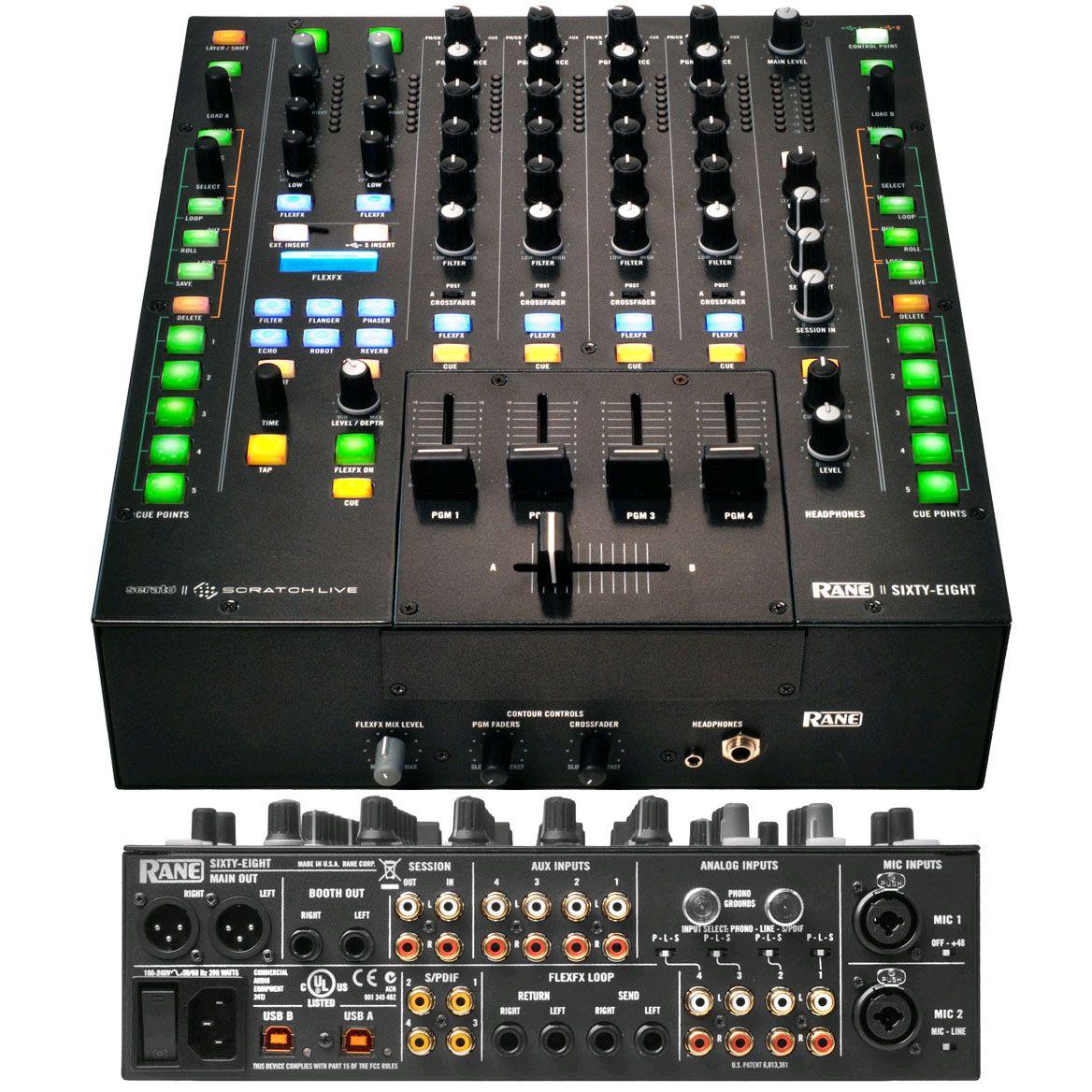 rane scratch live dj mixer dj mixers music dj equipment music production equipment. Black Bedroom Furniture Sets. Home Design Ideas