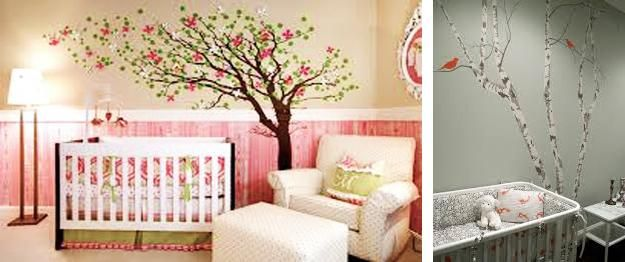 Romantic Kids Room Design, Trees for Decorating Em