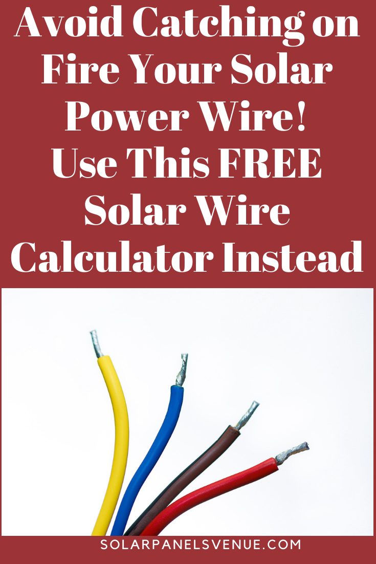 Free Solar Cable Size Calculator Solar Solar Power