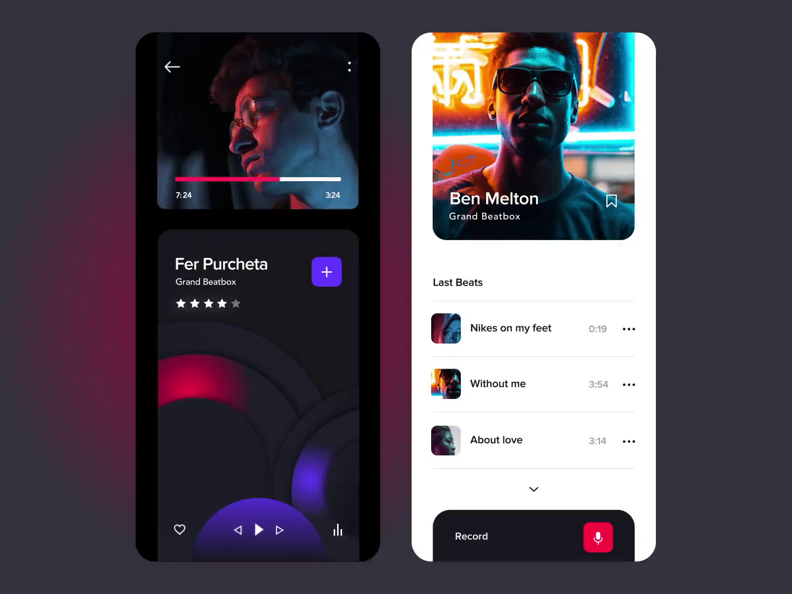 The music recording app by Outcrowd