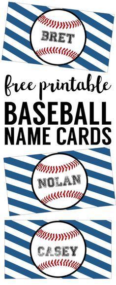 Baseball Place Card Holders Free Printable Baseball