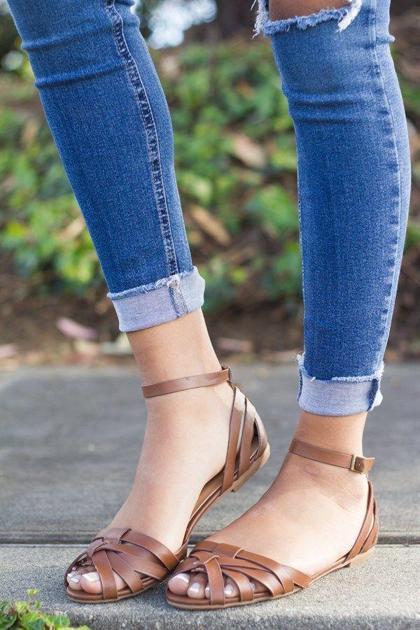 fc32745a3b60 Ankle Strap Sandal Flats