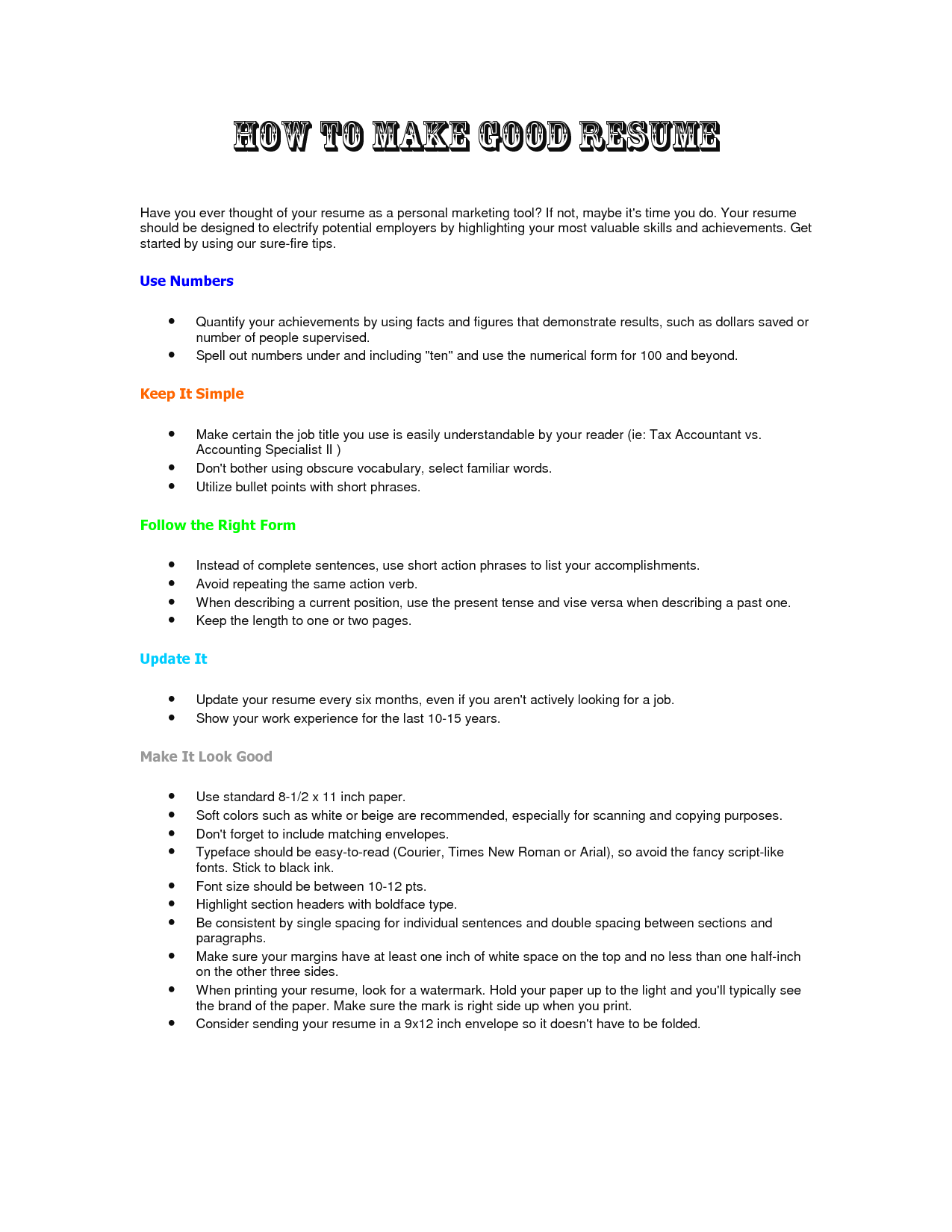 How To Make Great Resume Make A Good Resumes April Mydearest Co