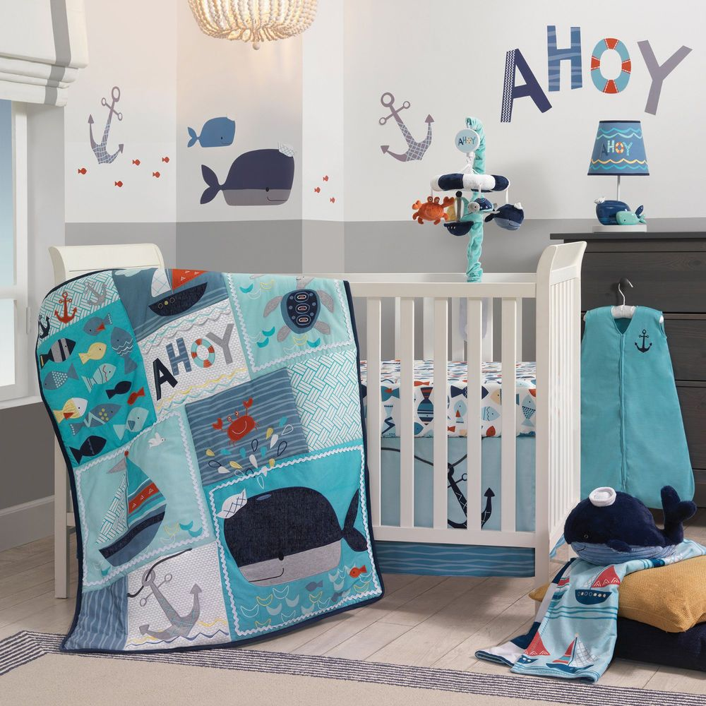 Lambs Amp Ivy Ahoy Baby Nursery Crib Bedding Set Choose From