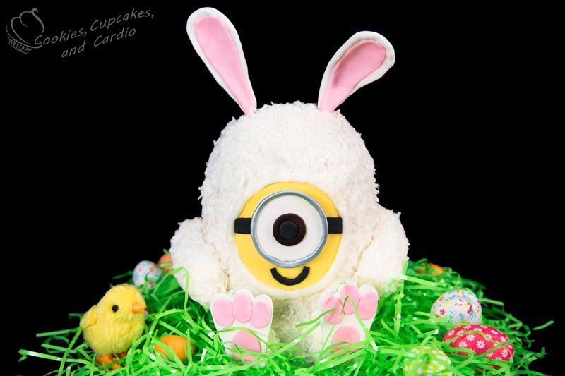 Minions Bunny Cake Tutorial - Cookies, Cupcakes, and Cardio